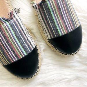 Caslon Shoes - Striped Toe Cap Ankle Tie Espadrilles